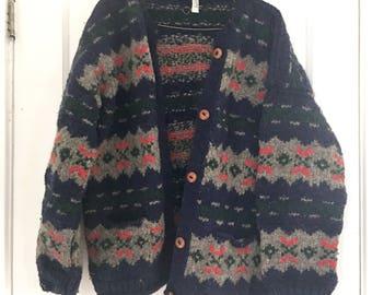 Vintage Wool Blend Cardigan