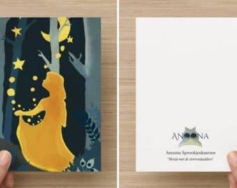 "Card ""Girl with the Stars Daaldersplaats"""