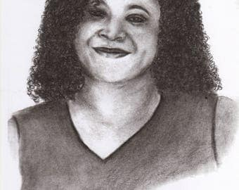 Portrait, Charcoal, Drawing and Illustration, Realistic, Realist Art