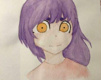 Anime Original Watercolor Art