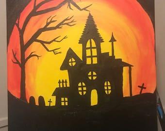 "Haunted House 16""x20"""