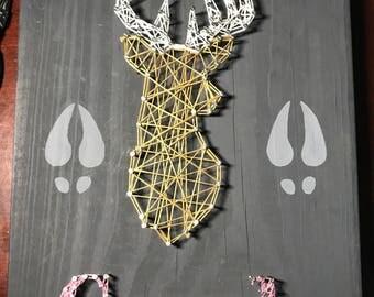 Custom Deer String Art
