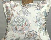 Designer pillow with flan...