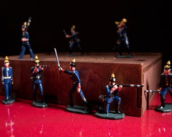 Lead Soldiers Set of 8 pcs - WW1 German Infantry division hand painted tin soldiers hand painted collectible toys for boys war wwi collector