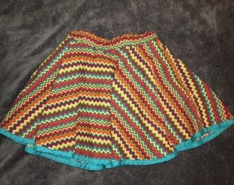 Chevron Print Circle Skirt 3T