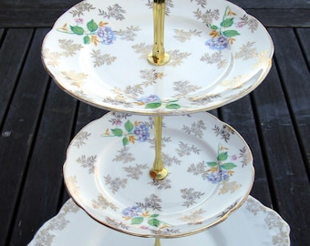 Vintage china cake stand - 2 and 3 tier