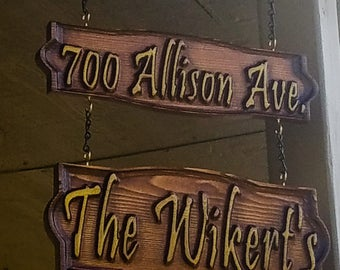 Custom Name and Address Porch,outside signs,Welcome Sign