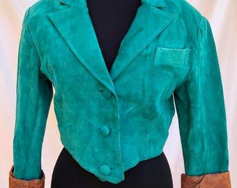 Vintage 1980s Teal Wilson's Leather Jacket