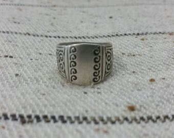 Moroccan Old Silver Berber Ring Size US 8 3/4