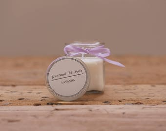 Soy candle-Scent of lavender/white musk