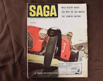 SAGA Magazine from November 1953 cover by Herb Mott