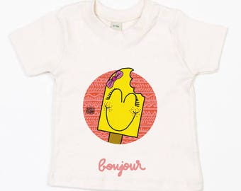 "Baby T-shirt nature ""Shoe girl"" (organic Cotton)"