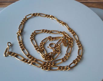 22ct yellow gold figaro chain 916