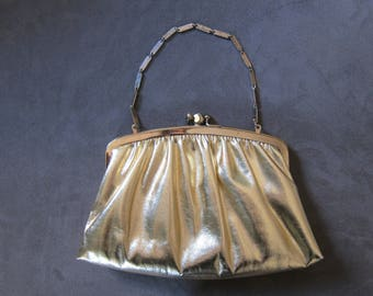 Vintage 1950's HL USA Gold Clutch