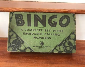 Vintage 1940s Bingo Game Set