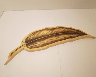 Wooden Feather