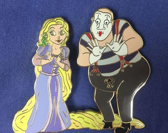 Rapunzel and Mime Pin