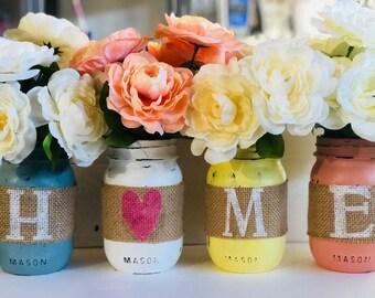 Spring Centerpieces ,Mason Jar Vases
