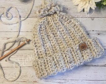 Snowboarding crochet hat, teen/ ladies