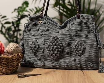 Vegan Shoulder Bag • Gerard Darel Bag • Summer Crocher Bag • Handmade Shoulder Bag •
