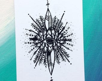ArtBeat series Coloring Art Postcard by Nina Elektrichka