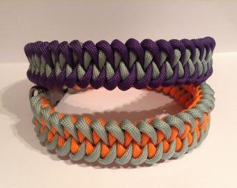 Hand made viper dog collar