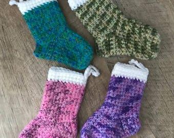 Crochet Hangable Tree Stockings