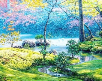 5D Diamond Mosaic landscape Diy Diamond Embroidery Square Paste Full Cross Stitch Kit Diy Diamond Painting