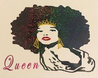 Women's Queen Afro Tshirt