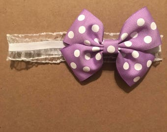 Newborn headband w/bow