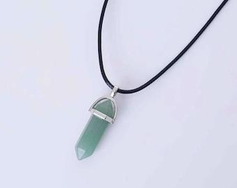 Green Prehnite Crystal Necklace