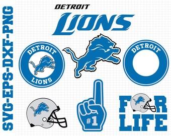 Detroit LionsSvg, cut files, print files, clipart, vector, T-shirt design, football logo, circut, silhouette cameo