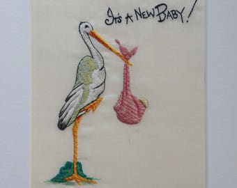 It's a new baby embroidery hand made picture