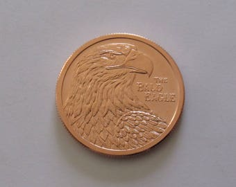 """1 oz. Uncirculated """"Bald Eagle"""" Copper Round, 1 1/2"""" in diameter. DIY Crafts. Jewelry Supplies."""