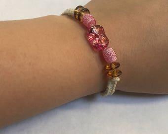 Pink Hemp Cord Bracelet