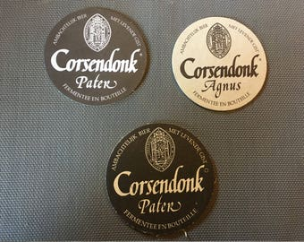 3 pieces Corsendonk Beer Coasters
