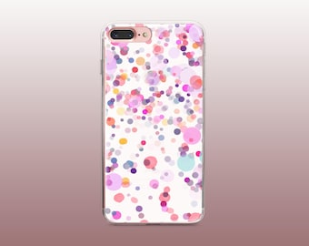 Dots Clear TPU Phone Case for iPhone 8- iPhone 8 Plus - iPhone X - iPhone 7 Plus-iPhone 7-iPhone 6-iPhone 6S-Samsung S8