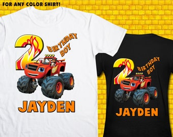 Blaze / Iron On Transfer / Boy Birthday Shirt Design / DIY Shirt / High Resolution / For Any Color T Shirt / 12 Hours Turnaround Time