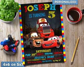 cars 3 Invitation, Disney cars Invitation, cars Invitation, Disney cars Birthday, Disney cars Party, Disney cars Printable, vertical invite