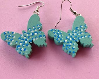 Hand Painted butterflies Earrings