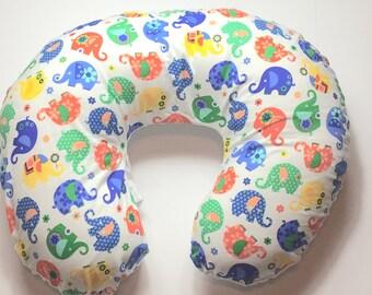 Boppy Pillow Cover | Nursing Pillow Cover | Boppy Cover | Elephants with White Minky
