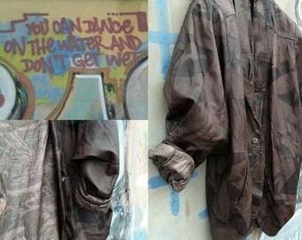 Leather jacket Oversize 80s Original