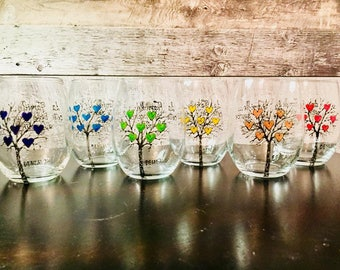 2 in 1: Mark glass wine glass