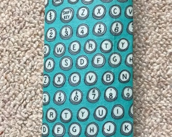 LARGE Reusable Beeswax Cotton Food Wrap LIMITED EDITION Typewriter Letter Keyboard Turquoise 30cm x 30cm Zero Waste Plastic Free