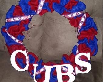 Burlap Sports team wreath, NFL, MLB, NHL, Nba, College
