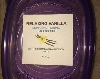 RELAXING VANILLA  Skin Conditioning Salt Scrub