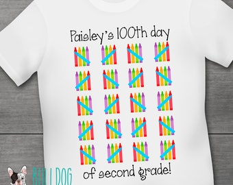 100th Day of School Shirt - Personalized Student Shirt - Hundred Days Smart - Hundred days of School