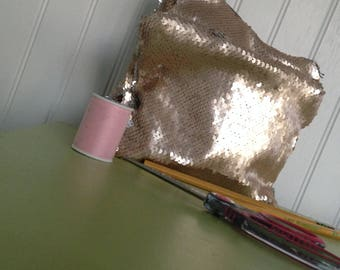 Gold and Silver Reversable Sequin Pencil Pouch
