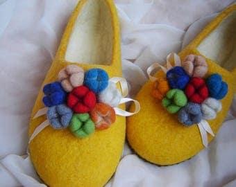 Kids wool handmade slippers