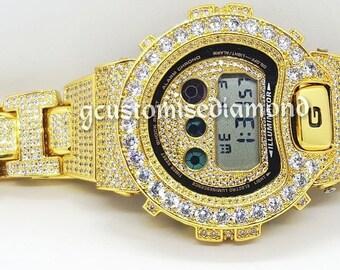customise (dw6900+GA110)gshock  diamond+inner diamond+ice out strap